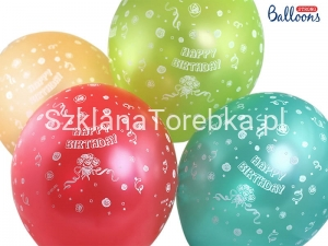 Balony Metaliczne Happy Birthday Mix 30 cm / 50 szt.