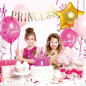 Topper na Tort Princess - Zamek Mix od 17 cm do 21.5 cm / 4 szt