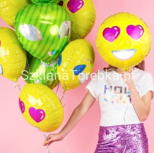 Balon Foliowy  Emotikon - Love 45 cm.