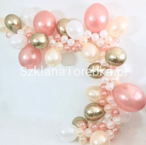 Balony Strong 27cm Metallic Rose Gold / 50 szt