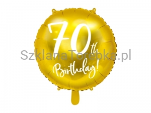 Balon foliowy 70th Birthday złoty 45cm
