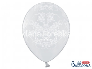 Balony Crystal Clear Ornament 35 cm / 6 szt.