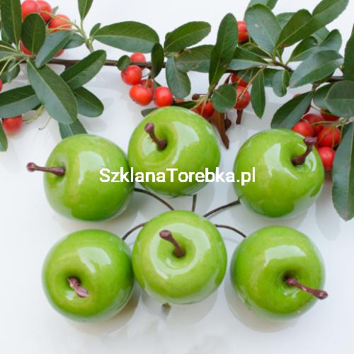 Jabłka Na Druciku Zielone 6 Szt